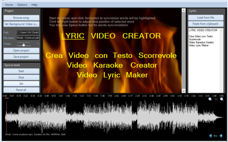Lyric Video Creator Professional-key