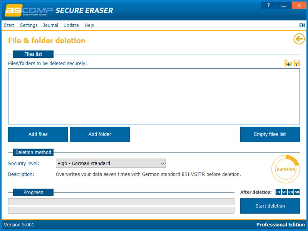 Secure Eraser Professional -registry code